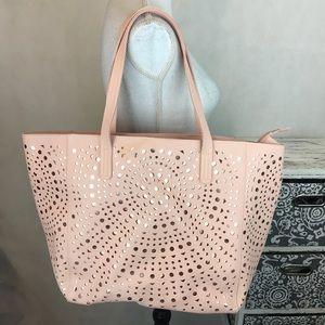 Handbags - Laser cut rose gold tote